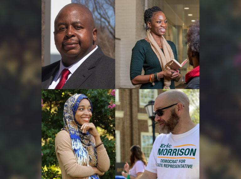 Clockwise from top left:  Larry D. Lambert Jr (Photo by Shannon Woodloe), Marie Pinkney (Photo by Imperial Photography), Madinah Wilson-Anton (Photo by Kai Jullian), Eric Morrison (Photo by G Rivera Fumero)