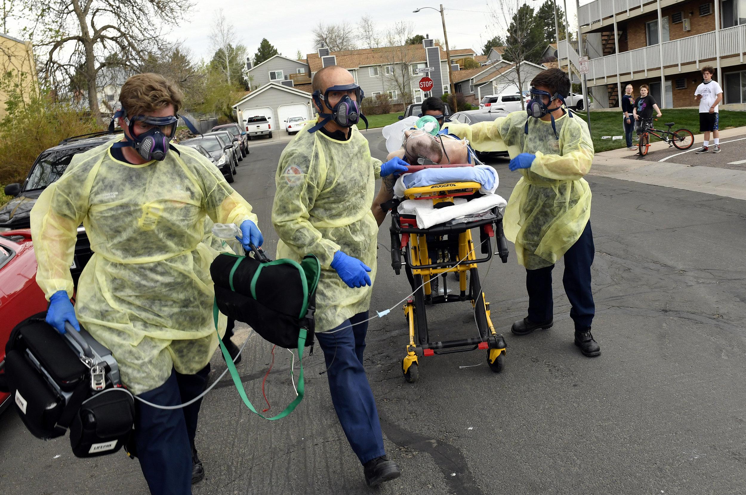 South Metro Firefighters work amidst coronavirus.