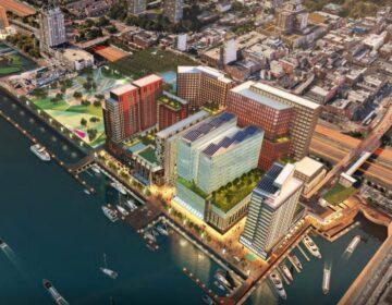 Rendering of Hoffman's proposed development at Penn's Landing (Proposal screenshot)