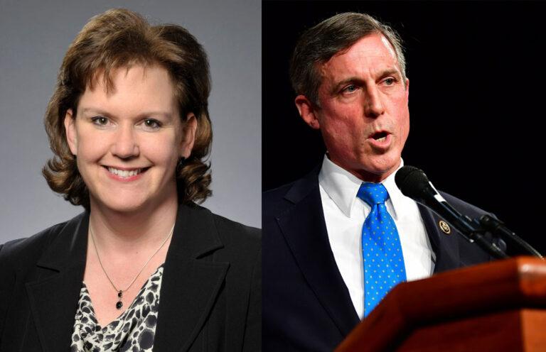 Sussex County criminal defense attorney Julianne Murray (Murray for Delaware) and Delaware Gov. John Carney (Office of Gov. John Carney)