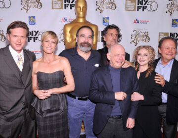 Cary Elwes, Robin Wright, Mandy Patinkin, Chris Sarandon, Wallace Shawn, Carol Kane and Billy Crystal attend the 25th anniversary screening and cast reunion of The Princess Bride in 2012. Several cast members are reuniting for a virtual fundraiser on Sept. 13 to support Wisconsin Democrats. (Stephen Lovekin/Getty Images)