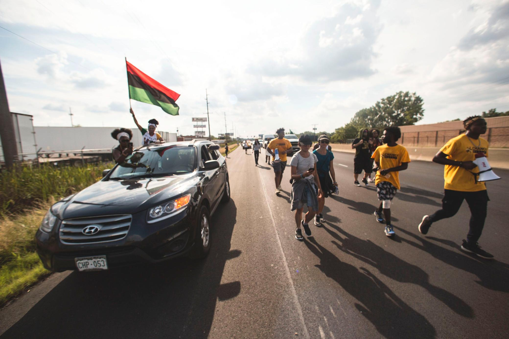 Civil rights marchers on a journey from Milwaukee to Washington, D.C.