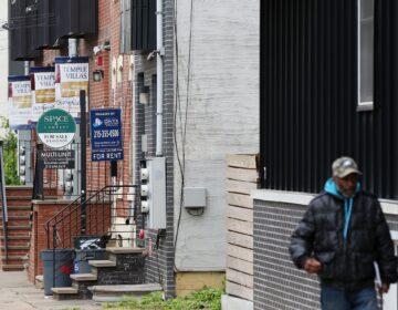 Student housing is advertised in North Philadelphia