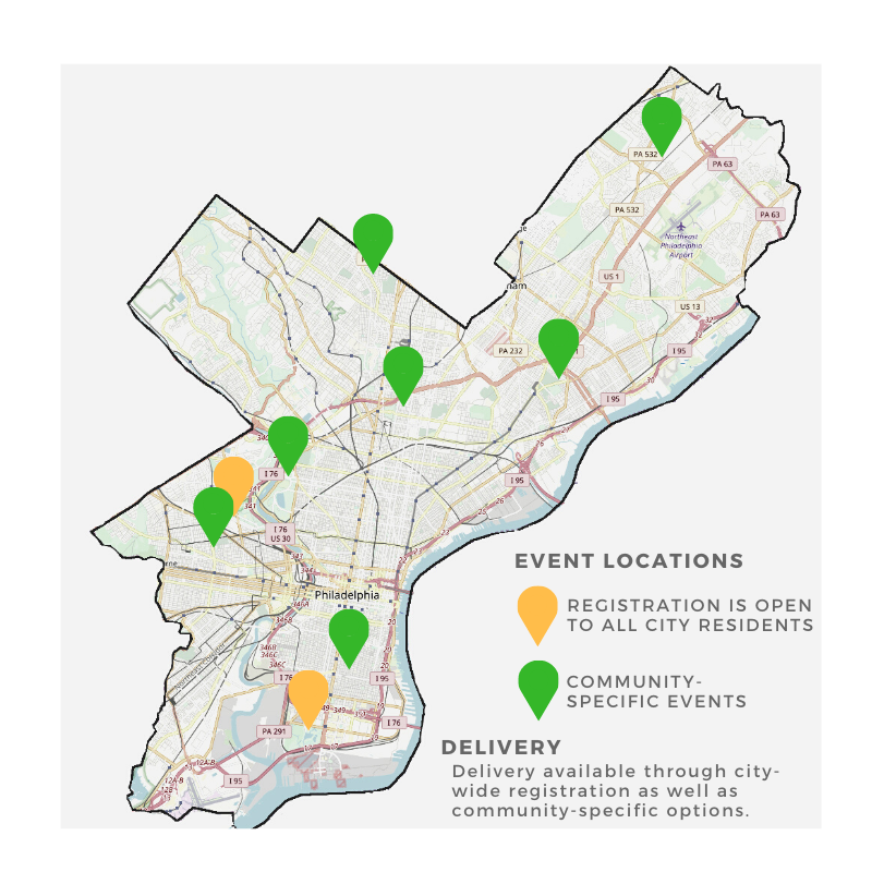 TreePhilly fall 2020 giveaway locations