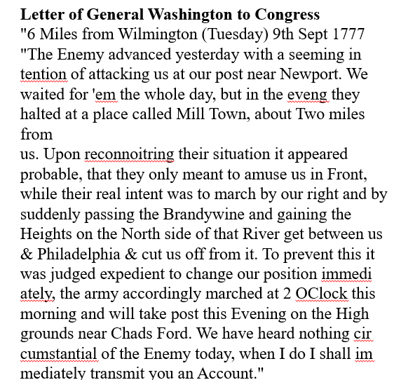 Gen. Washington mentioned the encampment in a 1777 letter to Congress