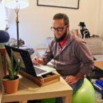 Sonny Bavaro teaches via Zoom