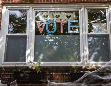 Window at Broad and Moore Streets in South Philadelphia (Kimberly Paynter/WHYY)