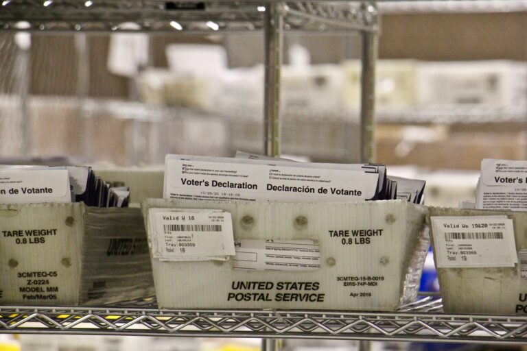 Mail-in ballots. (Emma Lee/WHYY)