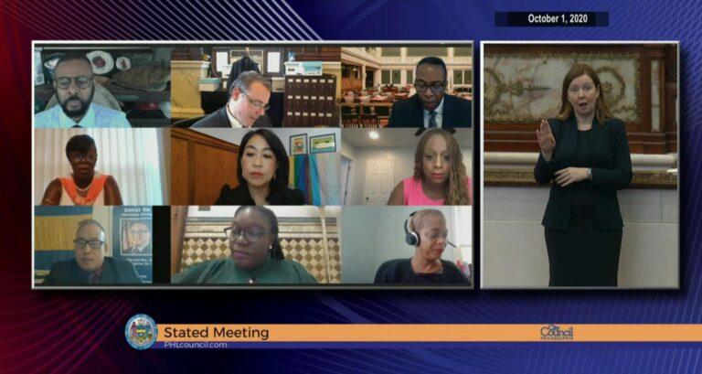 Philadelphia City Council convenes on Thursday via video chat. (Screenshot)