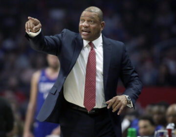 "FILE - In this Saturday, Feb. 1, 2020, file photo, Los Angeles Clippers head coach Doc Rivers talks to his players during the first half of an NBA basketball game against the Minnesota Timberwolves in Los Angeles. Walt Disney World is the NBA's home away from home for the foreseeable future. ""We're trying to just live our life,"" Rivers said. ""Have our best Disney life."" (AP Photo/Alex Gallardo, File)"