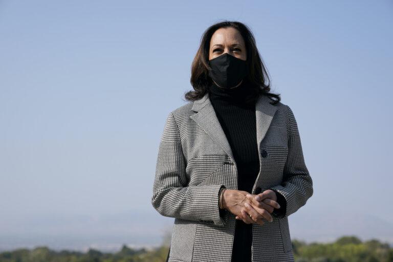 Democratic vice presidential candidate, Sen. Kamala Harris, D-Calif., speaks in Salt Lake City on Oct. 3, 2020. (AP Photo/Patrick Semansky)