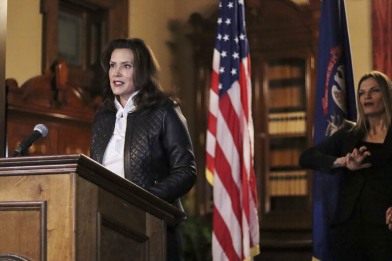 The governor of Michigan, Gretchen Whitmer
