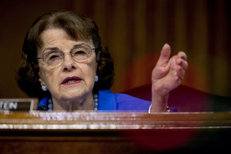 In this June 9, 2020, file photo ranking member Sen. Dianne Feinstein, D-Calif., speaks during a Senate Judiciary Committee hearing on Capitol Hill in Washington. (AP Photo/Andrew Harnik, Pool)