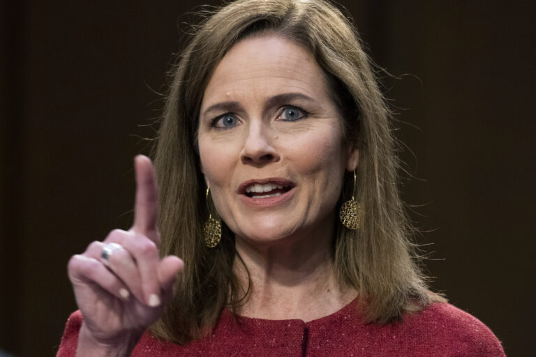 Supreme Court justice nominee Amy Coney Barrett testifies on the second day of her Senate Judiciary Committee confirmation hearing