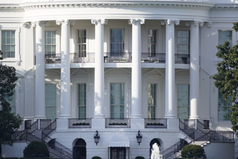 In this Oct. 5, 2020 file photo, the White House is shown Monday afternoon, Oct. 5, 2020, in Washington. (AP Photo/J. Scott Applewhite)