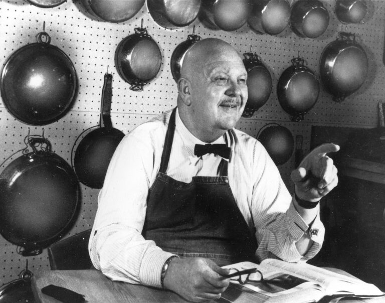 American chef, author and food critic James Beard is shown in Oct. 1973.  (AP Photo)