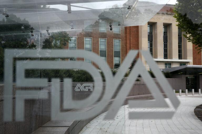 Food and Drug Administration (FDA) signage