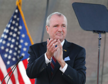 New Jersey Gov. Phil Murphy speaks during his 2021 budget address