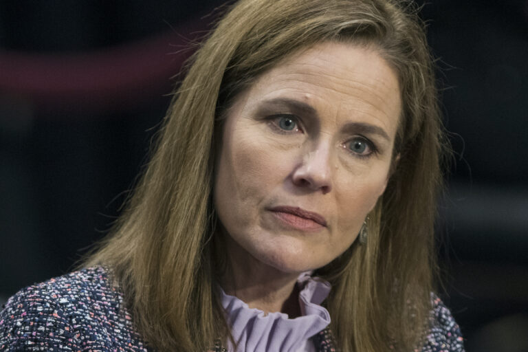 Supreme Court Justice nominee Amy Coney Barrett testifies before the Senate Judiciary Committee