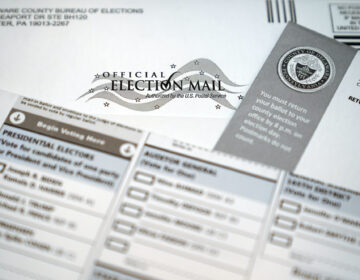 A mail-in official ballot for the 2020 General Election in the United States is shown