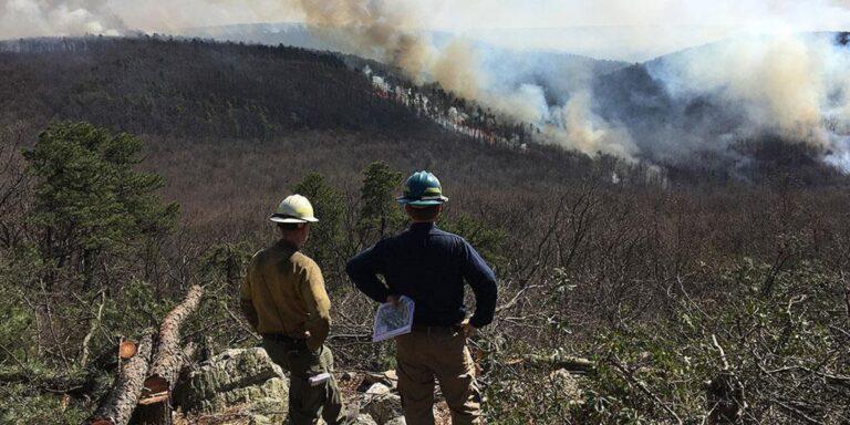 Pennsylvania prescribed wildfire burn