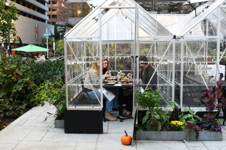 The greenhouses at Harper's Garden (Courtesy of FCM Hospitality)