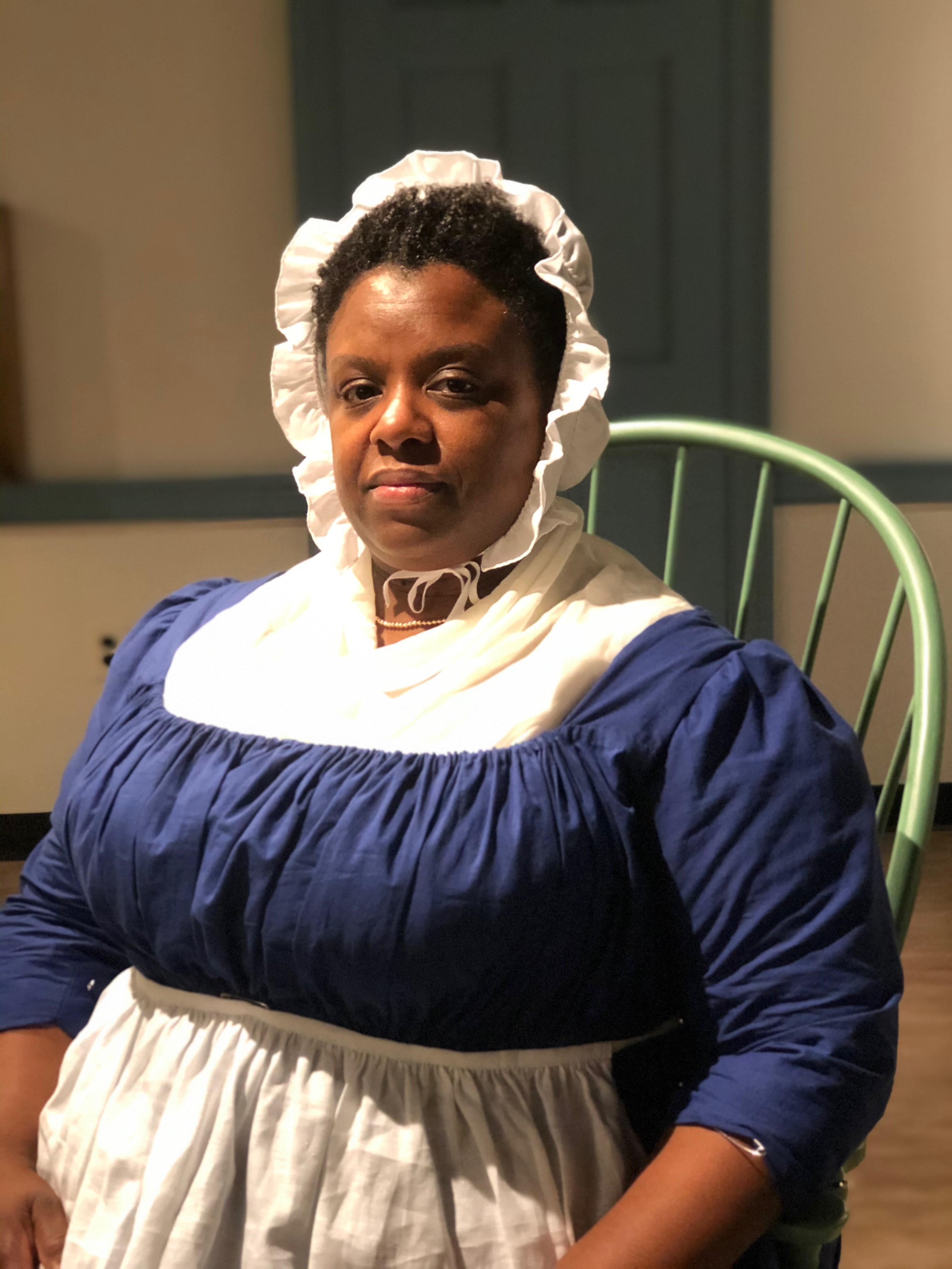 "A performer dramatizes the experience of Elizabeth ""Mumbet"" Freeman"