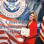 Elvira Méndez on the day of her citizenship ceremony. (Courtesy of Elvira Méndez/Facebook)