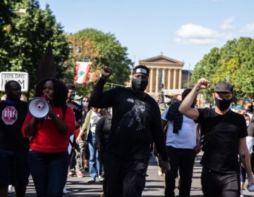 Protesters took to the streets Saturday, demanding justice for Black people killed by police. (Kimberly Paynter/WHYY)