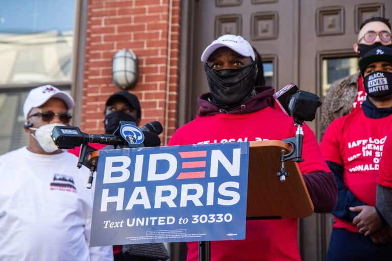 John Elam,  Philadelphia firefighter and Club Valiants member, said he'd prefer there'd be no endorsements and he wants there to be policy and procedures that include all members if there are endorsements. (Kimberly Paynter/WHYY)