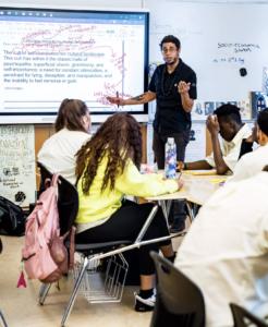 Ismael Jimenez teaches a class