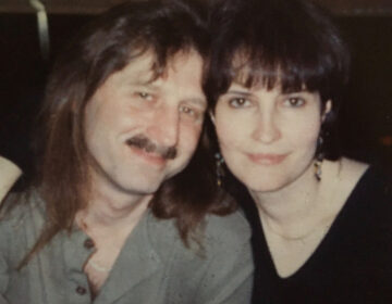 Paul Hathaway and Joanne McLaughlin. When Paul spent 48 weeks on chemo, she got markers and paper lunch bags, and tried the gallows humor thing. (Image courtesy of Joanne McLaughlin)