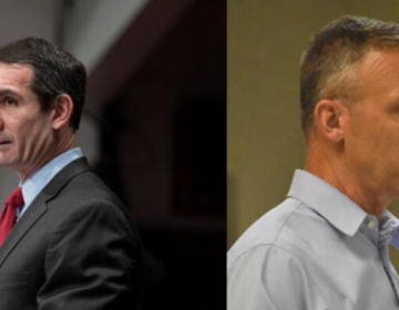 This photo collage shows 10th Congressional District candidates: Democrat Eugene DePasquale, left, and Republican Scott Perry, right. (Commonwealth Media Services and Ed Mahon/PA Post)