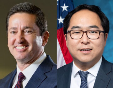 Left to right: David Richter and U.S. Rep. Andy Kim are vying for the U.S House of Representatives seat for New Jersey's 3rd Congressional district. (campaign photos)