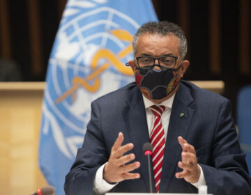 WHO Director-General Tedros Adhanom Ghebreyesus. (Christopher Black/AP)