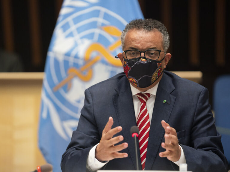 WHO Director-General Tedros Adhanom Ghebreyesus. (Christopher Black/AP)