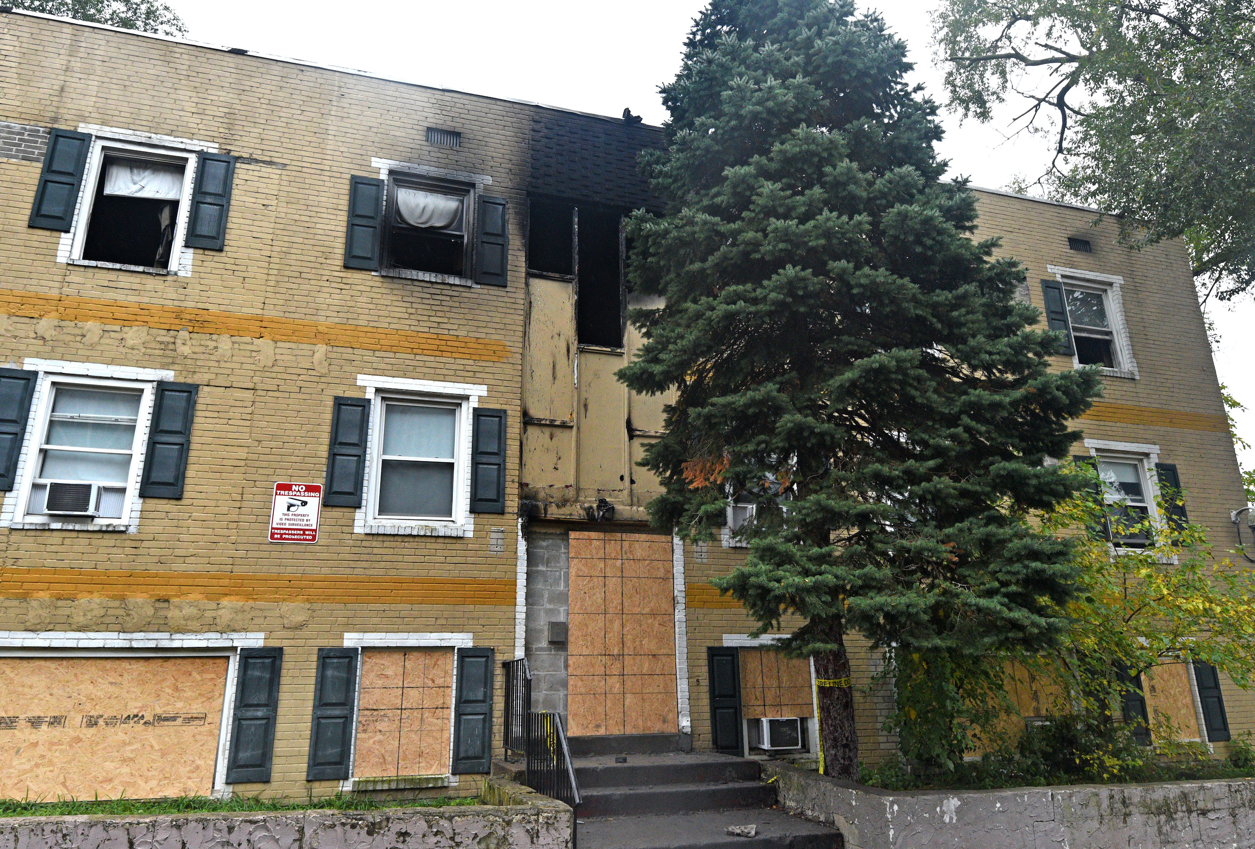 The gutted Cra-West Apartments in Camden, after a three-alarm fire on Oct. 25.