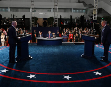 President Donald Trump and former Vice President Joe Biden participate in the first presidential debate
