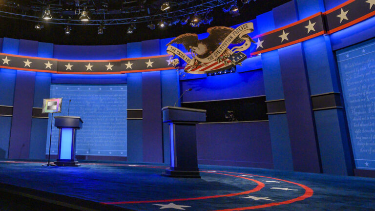 The stage for the final presidential debate