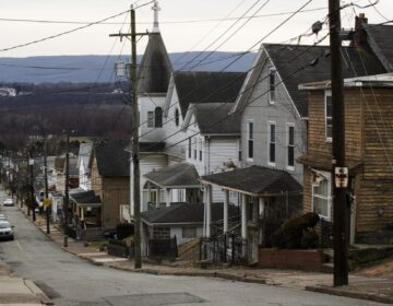A residential street in Plymouth, Pa. Luzerne County. (Matt Rourke/AP Photo)