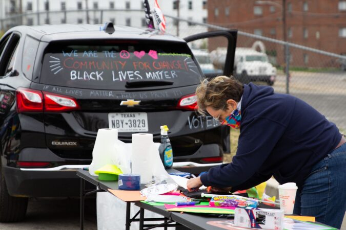 Members of the Norristown community decorated their cars for a rally in honor of Indigenous Peoples' Day