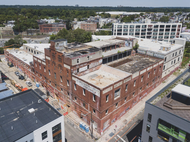 A former brewery in Brewerytown is being redeveloped into apartments with help from the federal Opportunity Zone tax incentive program. (Courtesy of MM Partners)