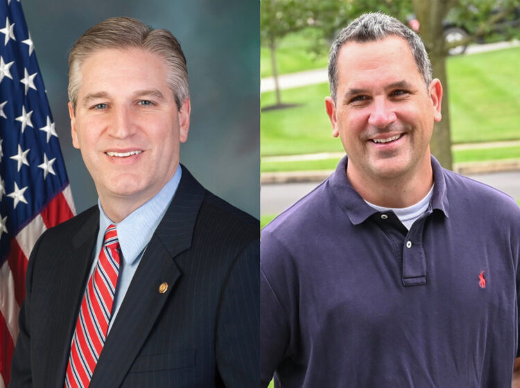 Contenders for Pennsylvania's 151st legislative district seat, incumbent Republican Todd Stephens (left) and Democrat Jonathan Kassa. It's one of several districts Democrats are hoping to flip in the 2020 general election. (Photos from candidates' web pages)