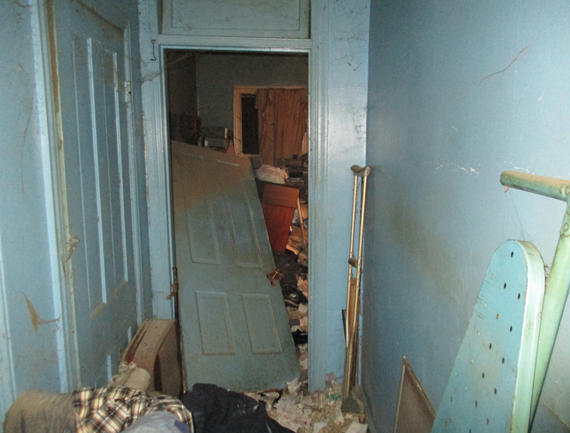A rental property is shown in disarray