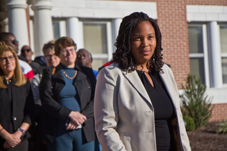 Delaware County Council Vice Chair Dr. Monica Taylor (Kimberly Paynter/WHYY)