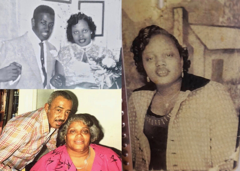 Ida (right, at 18 years old) was born in Martinsville, Va., and moved to Philadelphia when she was 3 years old. She married Johnny Robinson in November of 1956 (top left) and they raised six children. Johnny (pictured bottom left in 1989) died in 1997. (Courtesy of Diamond Franklin)
