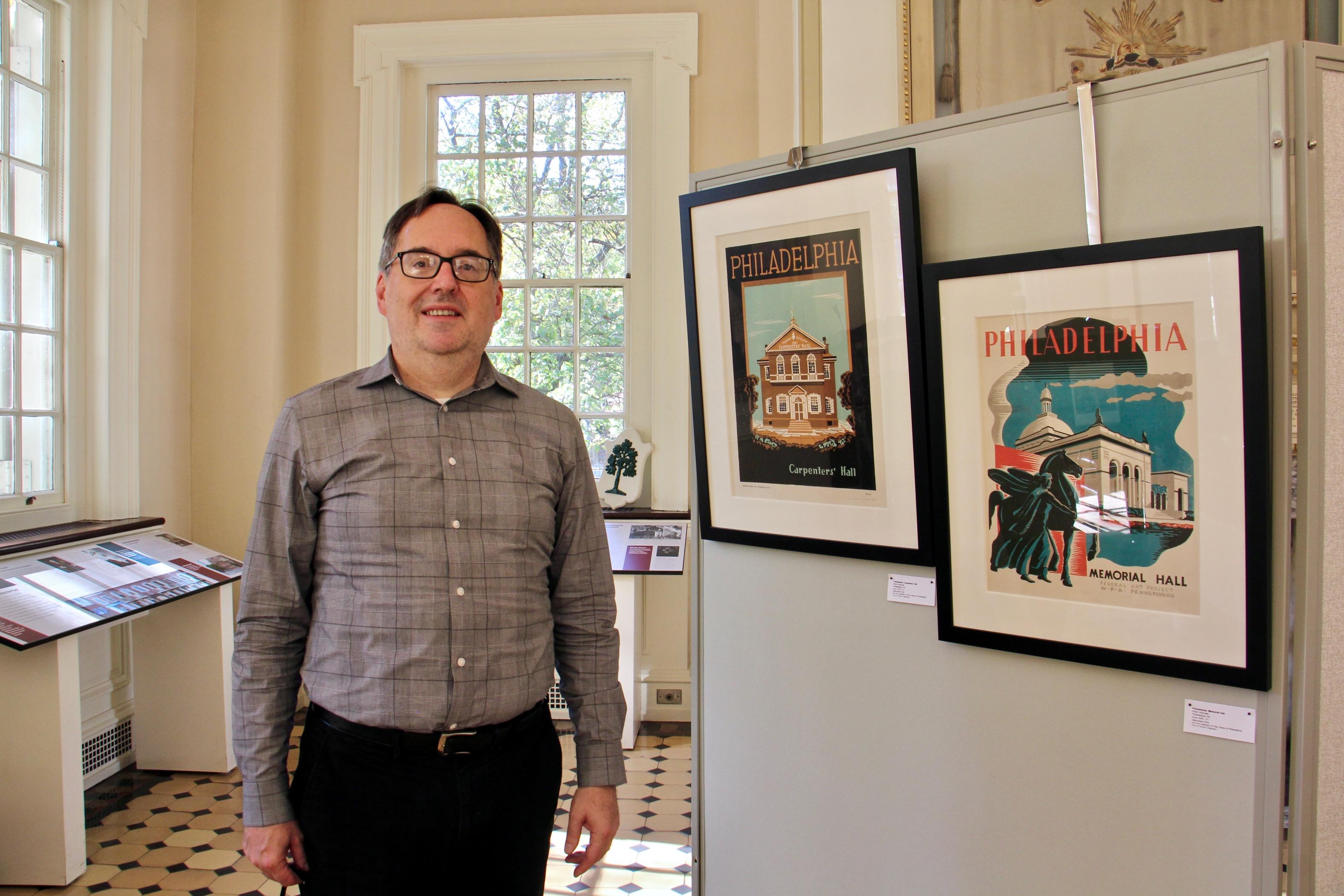 Michael Norris at the WPA exhibit