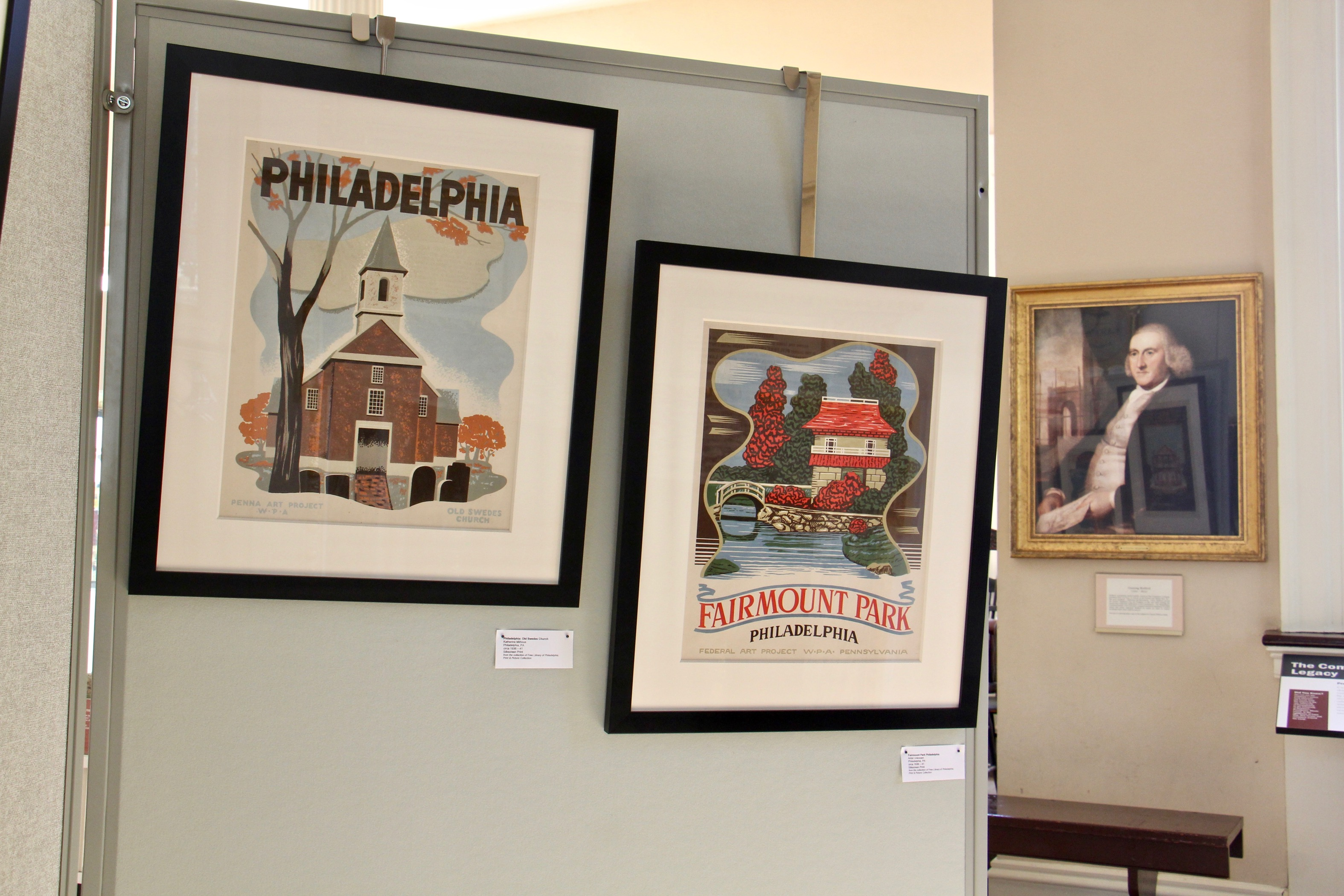 """""""Places for the People: WPA Travel Posters,"""" at Carpenters' Hall"""