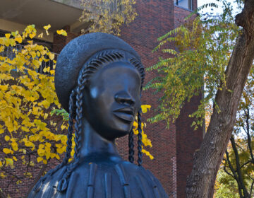 Brick House, a sixteen-foot statue of a Black woman's head atop a domed pedestal.