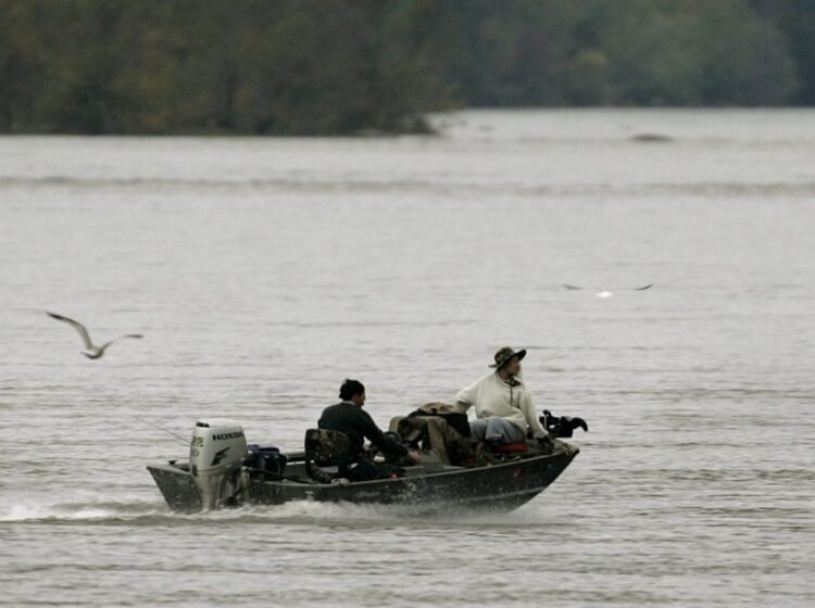 Fisherman on the Susquehanna River. It supplies half the freshwater flowing into the Chesapeake Bay. (Chris Gardner / AP Photo)